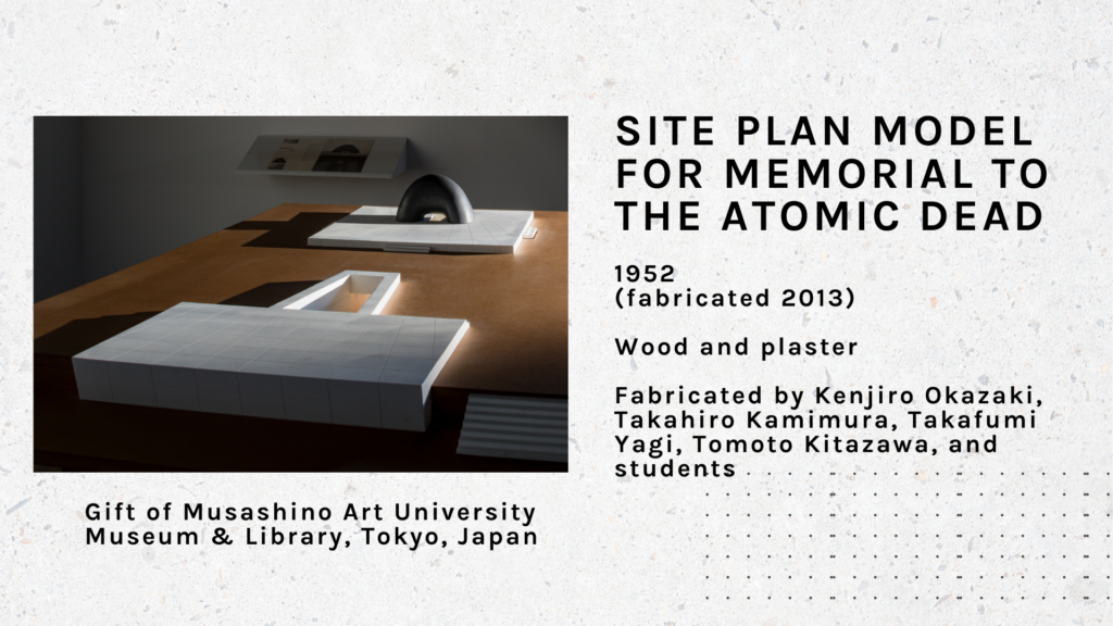 Site Plan Model for Memorial to the Dead, Hiroshima